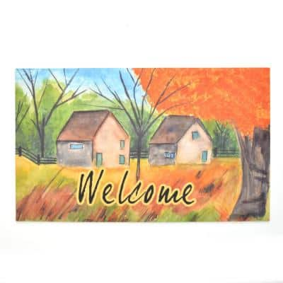 Crumb Rubber Country Autumn 18 in. x 30 in. Recycled Rubber Door Mat