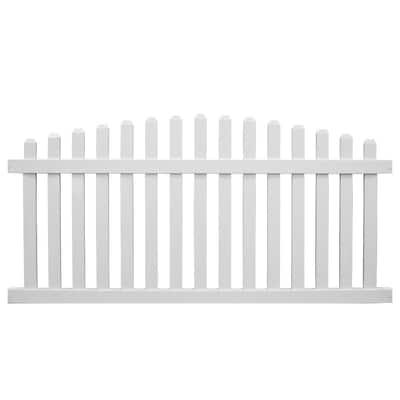 Sanibel 4 ft. H x 6 ft. W White Vinyl Picket Fence Panel Kit