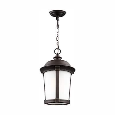 Calder Antique Bronze 1-Light Hanging Pendant with LED Bulb