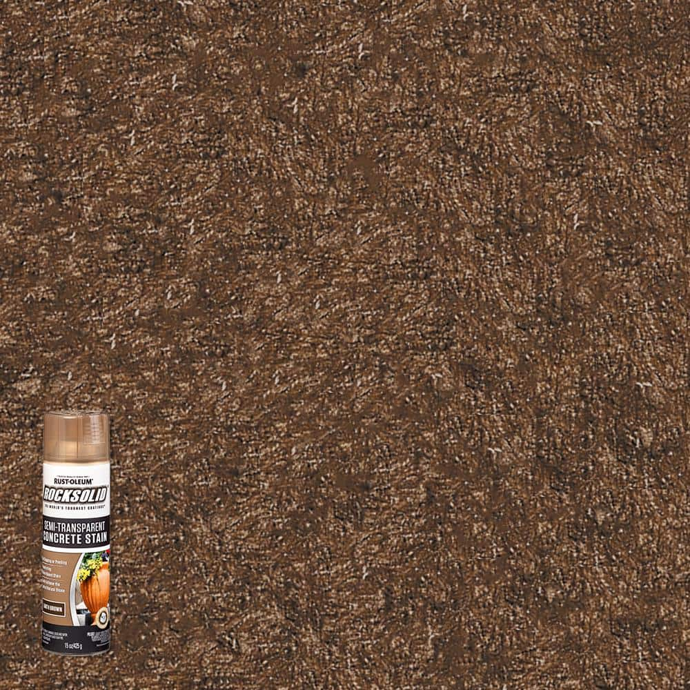 Rust-Oleum RockSolid 15 oz. Water-Based Earth Brown Concrete Stain Spray (6-Pack)