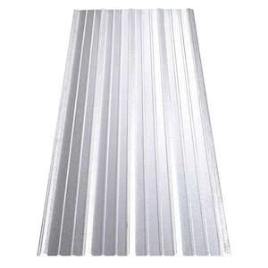 10 ft. SM-Rib Galvalume Steel 29-Gauge Roof/Siding Panel