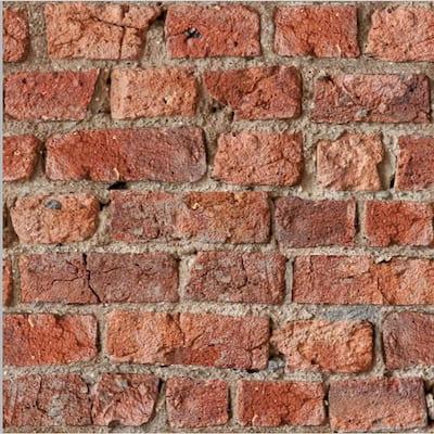 Urban Brick Red Peel and Stick Non-Woven Wallpaper