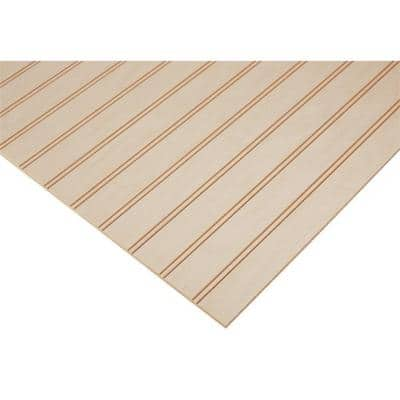 1/4 in. x 2 ft. x 8 ft. PureBond Maple 1-1/2 in. Beaded Plywood Project Panel