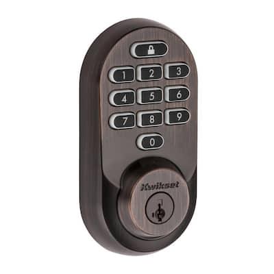 HALO Venetian Bronze Keypad Wi-Fi Electronic Single-Cylinder Smart Lock Deadbolt featuring SmartKey Security