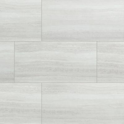 White Ocean 12 in. W x 24 in. L Rigid Core Click Lock Luxury Vinyl Tile Flooring (66 cases/1278.42 sq. ft./pallet)
