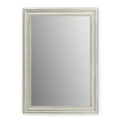 29 in. W x 41 in. H (M3) Framed Rectangular Standard Glass Bathroom Vanity Mirror in Vintage Nickel