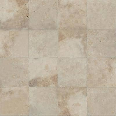 Take Home Tile Sample - Tuscany Beige 6 in. x 6 in. Tumbled Travertine Paver Tile (0.25 sq. ft.)
