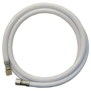 1/4 in. O.D. x 1/4 in. I.D. Comp x Comp 5 ft. Flexible Braided PVC Icemaker Supply Line