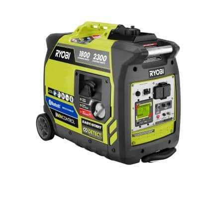 2,300-Watt Recoil Start Bluetooth Super Quiet Gasoline Powered Digital Inverter Generator with CO Shutdown Sensor
