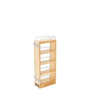 26.25 in. H x 5 in. W x 10.75 in. D Wood Pull-Out Wall Cabinet Organizer
