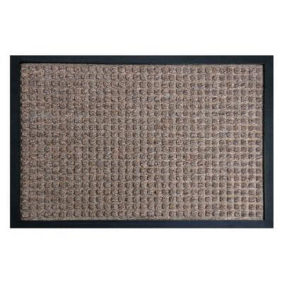 Nottingham Brown 48 in. x 72 in. Rubber Backed Carpet Mat