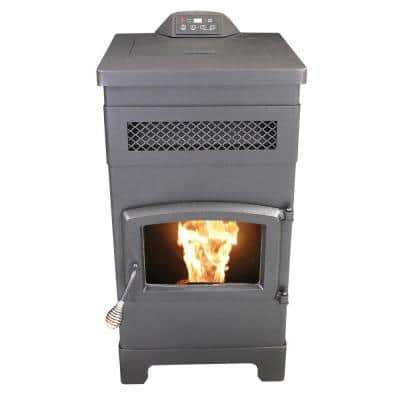 2200 sq. ft. EPA Certified Pellet Stove with 40 lbs. Hopper and Remote Control and Slim Design