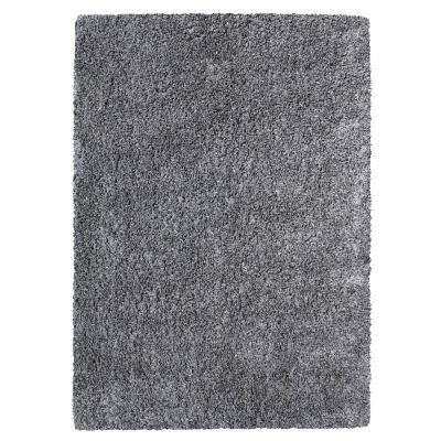 Clarion Light Gray Shag 9 ft. x 12 ft. Solid Indoor Area Rug