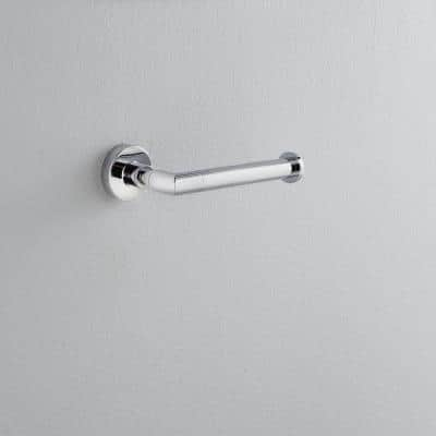 Venue Euro Single Post Toilet Paper Holder in Chrome