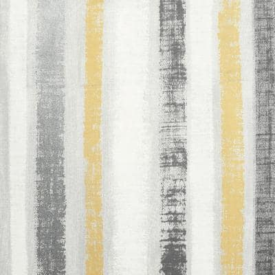 Painted Stripe Ochre and Grey Peel and Stick Non-Woven Paper Wallpaper