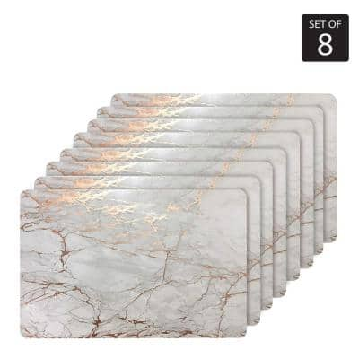 "Marble Cork 12 in. x 18"" In. Yellows and Golds Cork Rectangle Placemats Set of 8"