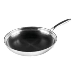 Black Cube 12.5 in. Stainless Steel Nonstick Frying Pan