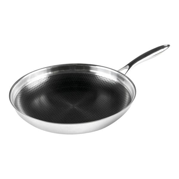 Black Cube Black Cube 12 5 In Stainless Steel Nonstick Frying Pan Bc132 The Home Depot