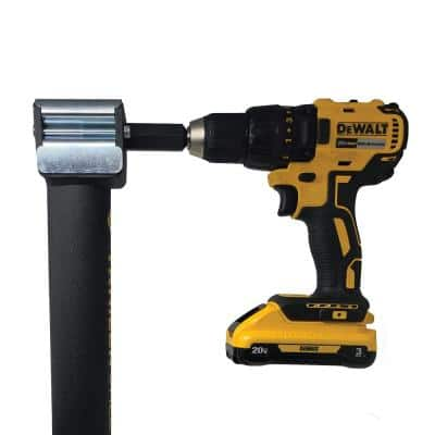 JXS5 5000 lbs. Load Cap. Swivel Hand or Drill Jack Pipe Mount with Black Powder Coating and Gear Reduction