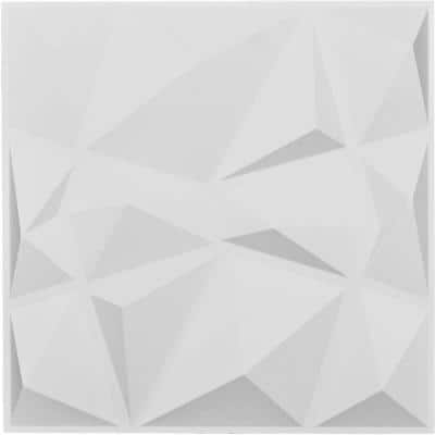 1 in. x 19-5/8 in. x 19-5/8 in. White PVC Niobe EnduraWall Decorative 3D Wall Panel