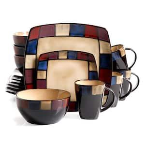 Soho Lounge 16-Piece Contemporary Taupe Stoneware Dinnerware Set (Service for 4)