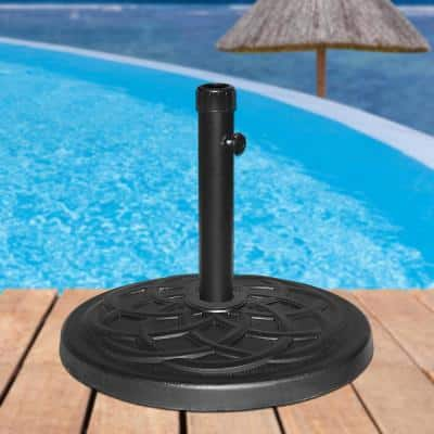 27 lbs. Heavy-Duty Patio Umbrella Base in Black