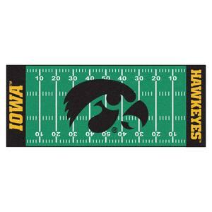 University of Iowa 3 ft. x 6 ft. Football Field Runner Rug