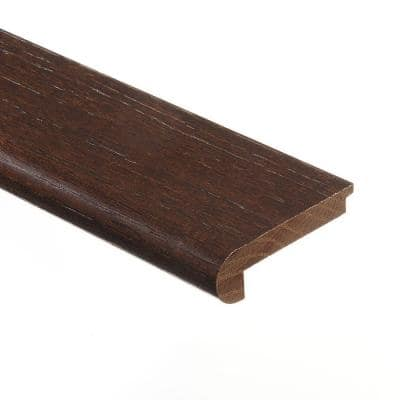 Hickory Chestnut 3/8 in. Thick x 2-3/4 in. Wide x 94 in. Length Hardwood Stair Nose Molding Flush
