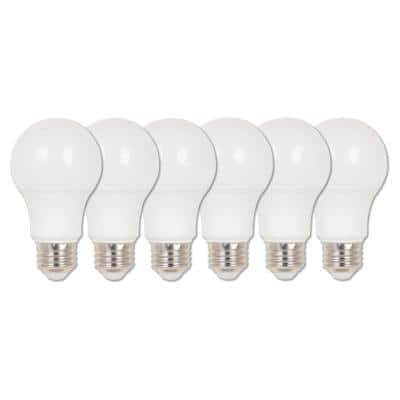 40-Watt Equivalent Omni A19 Dimmable Soft White LED Light Bulb Soft White Light (6 Pack)