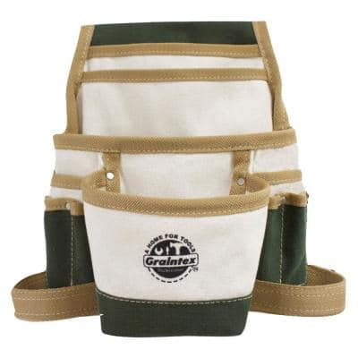 Canvas 10-Pocket Nail and Tool Pouch