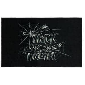 Trick or Treat Web Black 2 ft. x 3 ft. 4 in. Holiday Area Rug