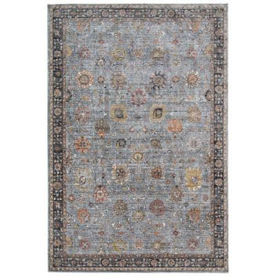 Fareville Gray/Sienna Floral 2 ft. x 3 ft. 3 in. Area Rug