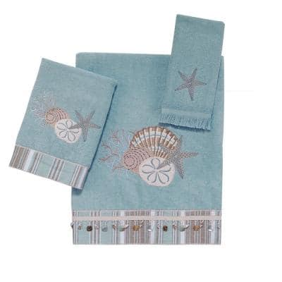 3-Piece Mineral By the Sea Cotton Towel Set