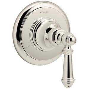 Artifacts Lever 1-Handle Transfer Valve Trim Kit in Vibrant Polished Nickel (Valve Not Included)