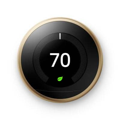 Nest Learning Thermostat - Smart Wi-Fi Thermostat - Brass