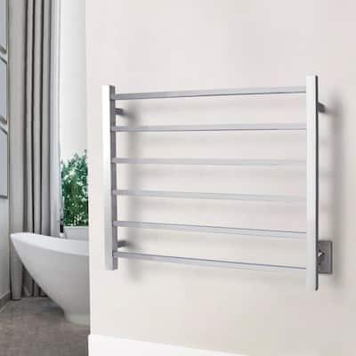 Elevate Tahoe6 6-Bar Electric Towel Warmers in Polished Stainless Steel