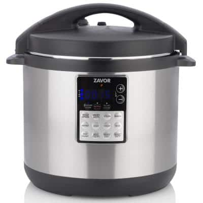 LUX EDGE 8 Qt. Stainless Steel Electric Pressure Cooker with Stainless Steel Cooking Pot
