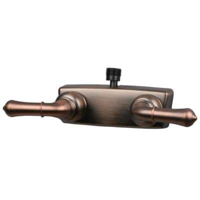 RV Shower Valve with D-Spud for Personal Shower - 4 in., Oil Rub Bronze