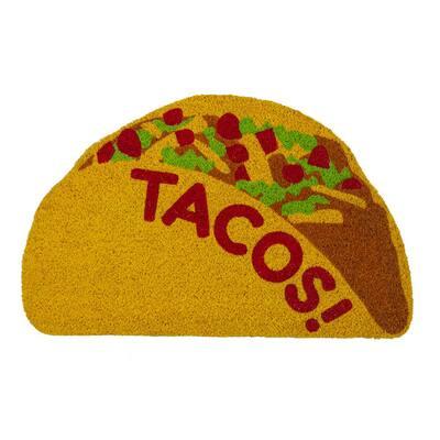 Tacos 28 in. x 17 in. Coir Door Mat