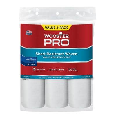 9 in. x 1/2 in. High-Density Pro Woven Roller Cover (3-Pack)