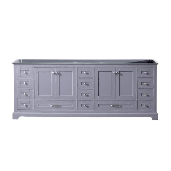 Lexora Dukes 84 Inch Bathroom Vanity Cabinet Only In Dark Grey Ld342284db00000 The Home Depot
