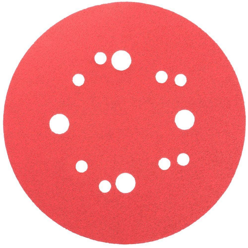 100x 5in 8 Hole Round Sandpaper Abrasive Sanding Disc for Polishing Grinding
