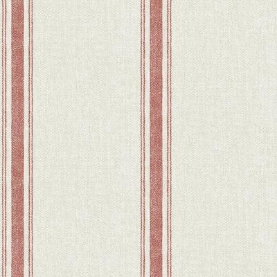 56.4 sq. ft. Linette Burnt Sienna Fabric Stripe Wallpaper