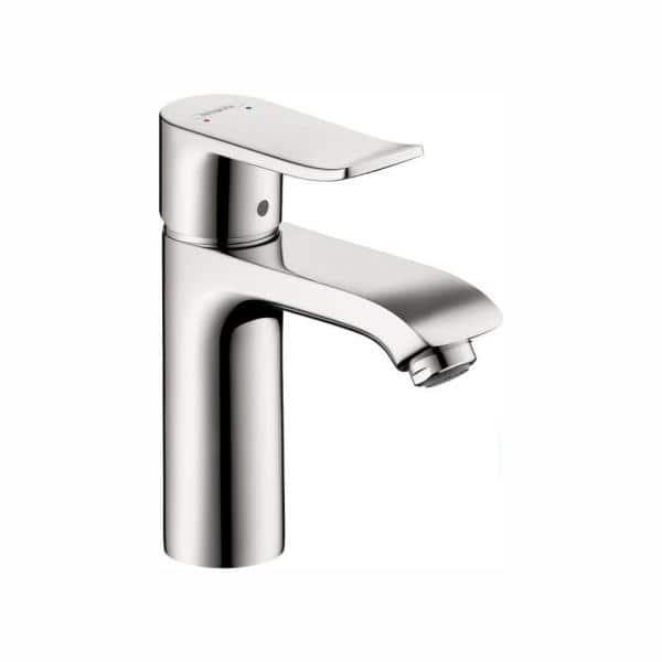 Hansgrohe Metris Single Hole 1 Handle Low Arc Bathroom Faucet In Chrome 31080001 The Home Depot