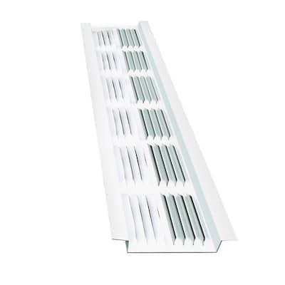 2.75 in. x 2.5 in. Rectangular White Wildlife Guard Aluminum Soffit Vent