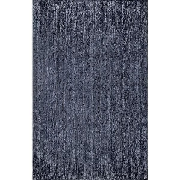 Nuloom Rigo Chunky Loop Jute Navy 4 Ft X 6 Ft Area Rug Tajt03d 406 The Home Depot