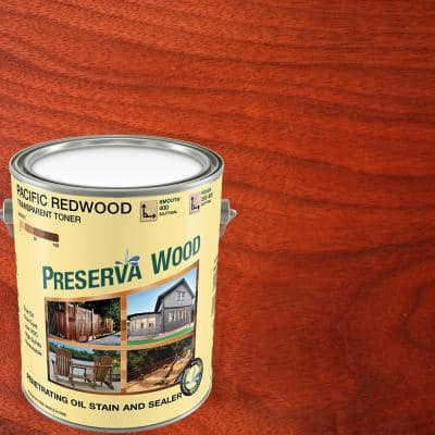 1 gal. Oil-Based Pacific Redwood Penetrating Exterior Stain and Sealer