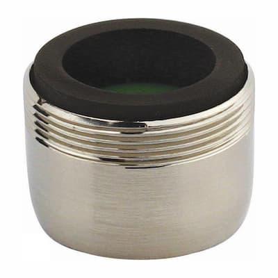 1.5 GPM Dual-Thread Water-Saving Faucet Aerator in Brushed Nickel