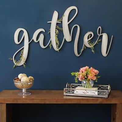 Large Metal Gather Script Sign