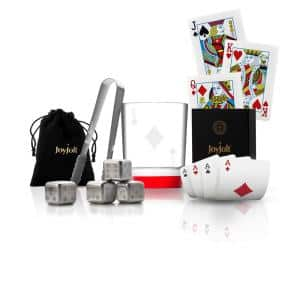 Poker King of Diamonds 11 oz. Whiskey Glass with Accessories